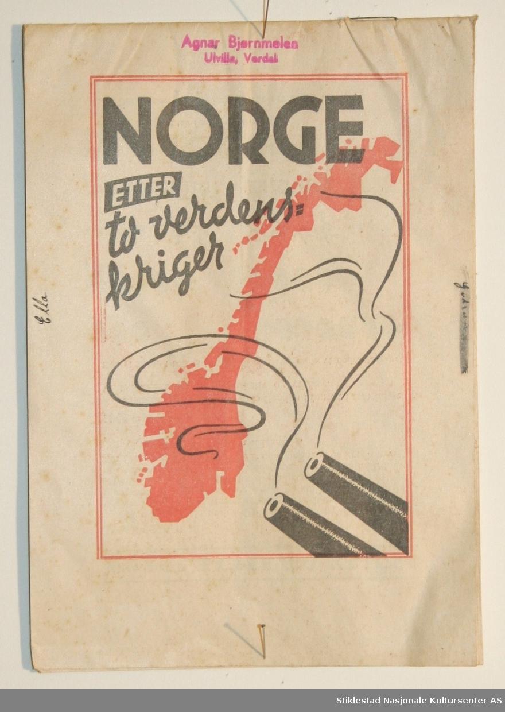 Politisk brosjyre fra Arbeiderpartiet og gjennoppbyggingen av Norge etter krigen. Ant. trykt i 1949. Brosjyren er illustrert med enkel statistikk med tydeliggjøring av økonomisk og industriell vekst i Arbeiderpartiets regi. Brosjyren har svart og rød fargetrykk og har 16 sider.