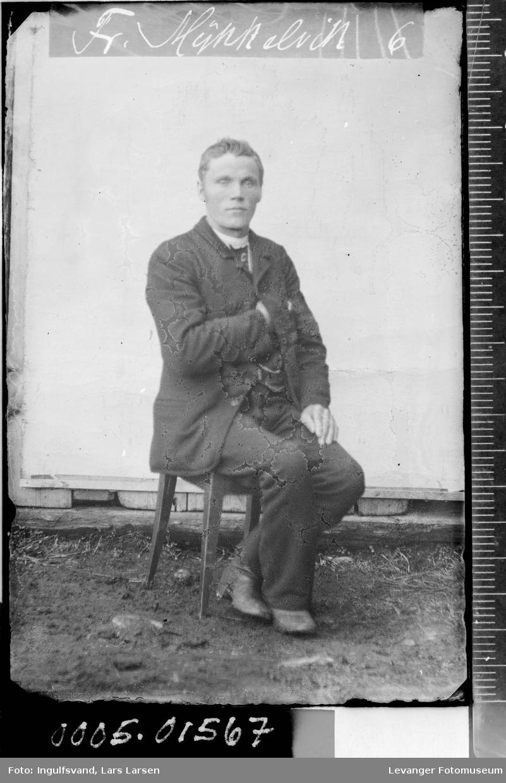 Portrett av en mann.