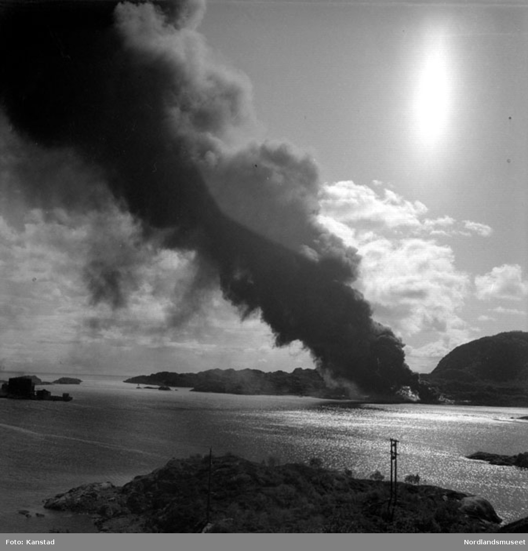 Oljetanker ved Osan i brann
