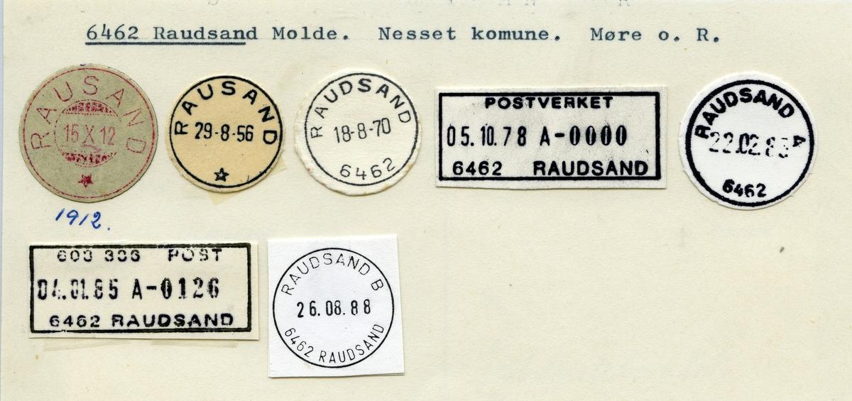 Stempelkatalog 6462 Raudsand (Rausand), Molde, Nesset, Møre og Romsdal