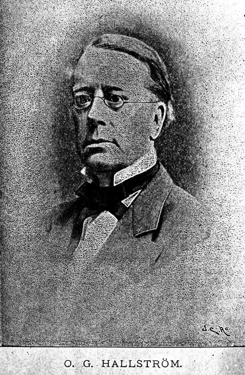 Omar Hallström. Reproduktion av KJ Österberg.