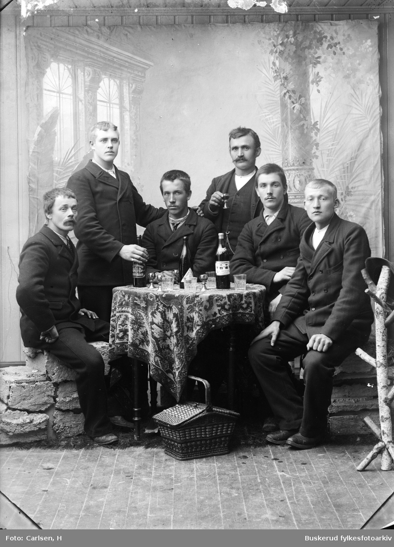 O.K.Berg, A.G. Ratned?, J. Berg, K.L. Lansbraaten, Gabriel Lansbraaten, K. ? Randsfjord  cabinettformat