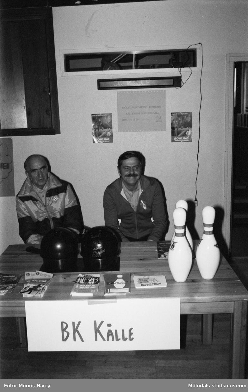 Föreningarnas dag på Almåsgården i Lindome, år 1983. Bowlingklubben BK Kålle.  För mer information om bilden se under tilläggsinformation.