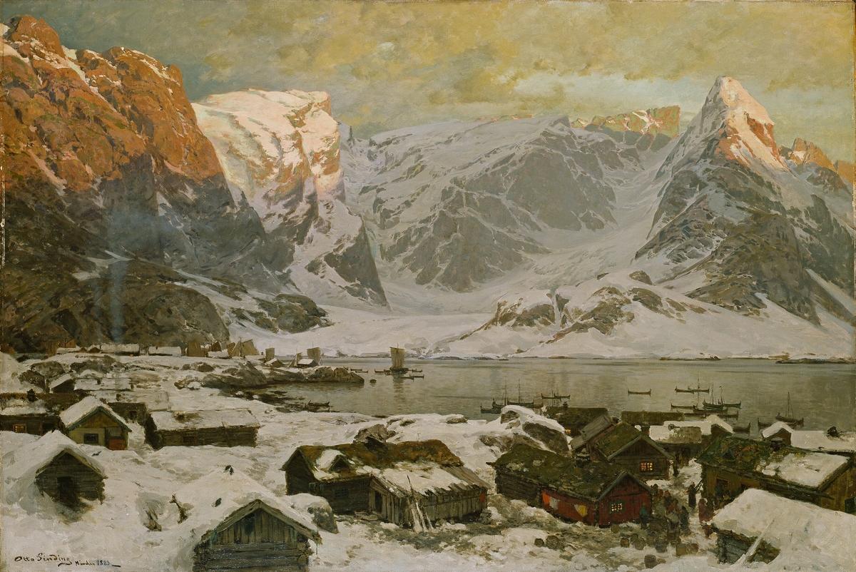 Fra Reine i Lofoten [Maleri]