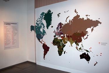 Verdenskart med årstall for kvinnestemmerett