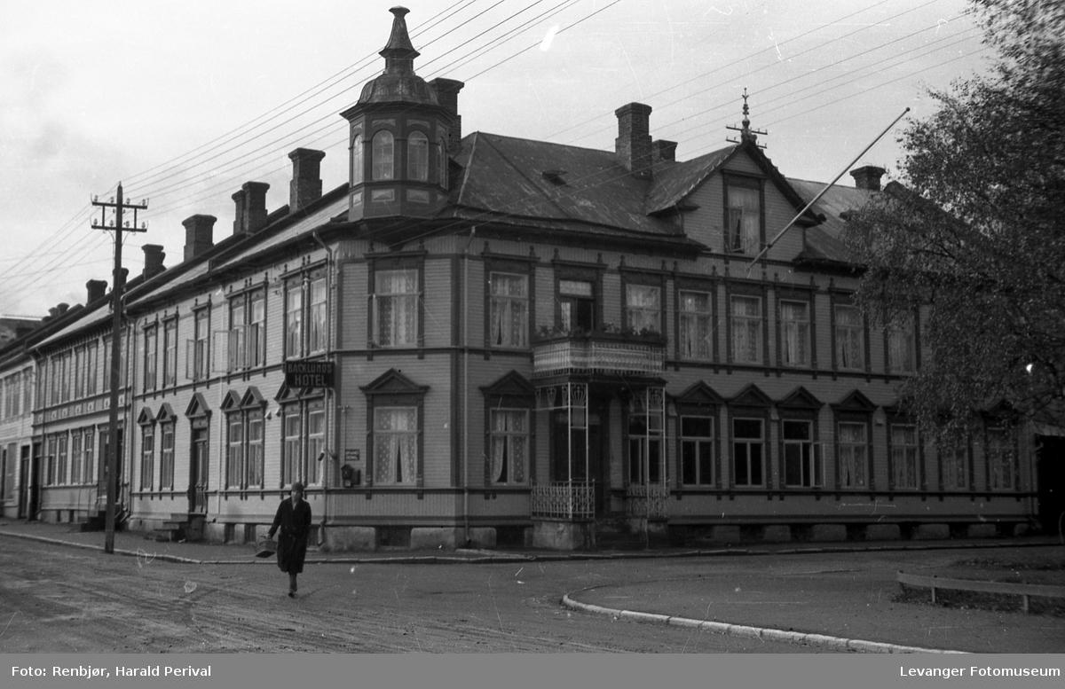 Hotell Backlund , det gamle hotellet i tre.