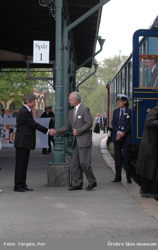 Den 5 juni 2006 firades järnvägens 150-årsjubileum med pompa och ståt i Nora. Kung Carl XVI Gustaf anlände med ett bolmande ånglok tillsammans med 200 inbjudna gäster till Nora station.Landshövding Sören Gunnarson, m.fl.