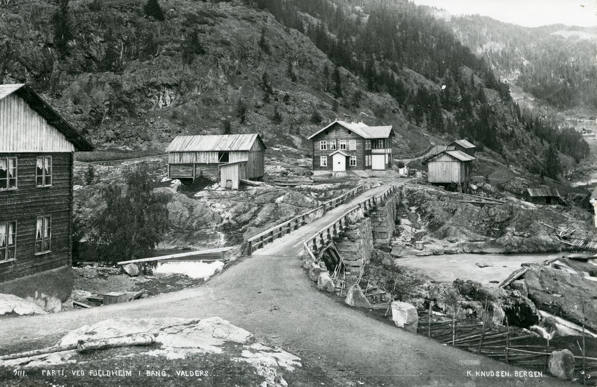 Bildet viser parti ved Storefossbrua i Bagn, Sør-Aurdal