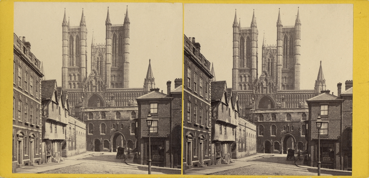 Stereobild av katedral.