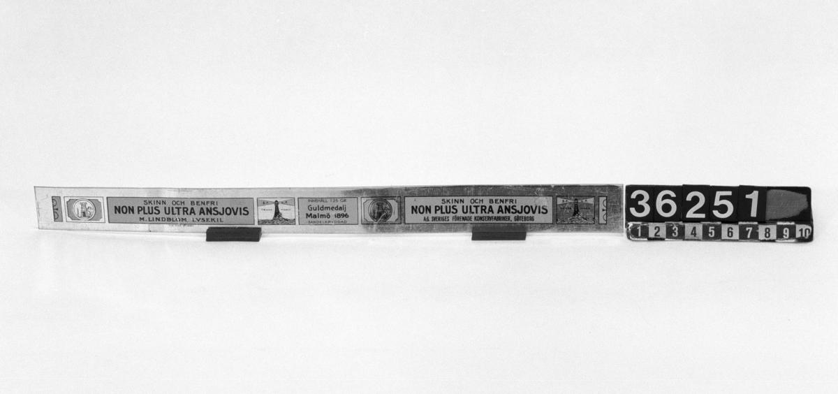 TM 36.193-285 av varierande storlek för emballering av livsmedelsprodukter.