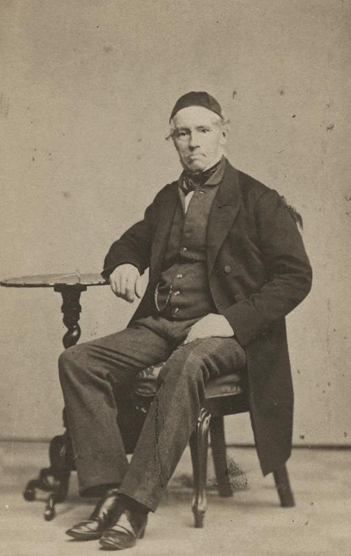 En man.Olof Adolf Geete, far till fröken Fredrique Geete.