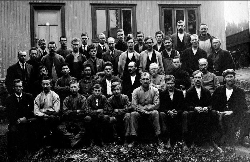 Arbeidsgjengen hos Anker & Jensen 1924