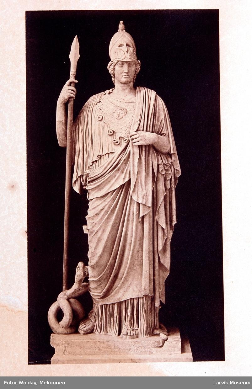 skulptur (Perikles?) av en av antikkens krigere