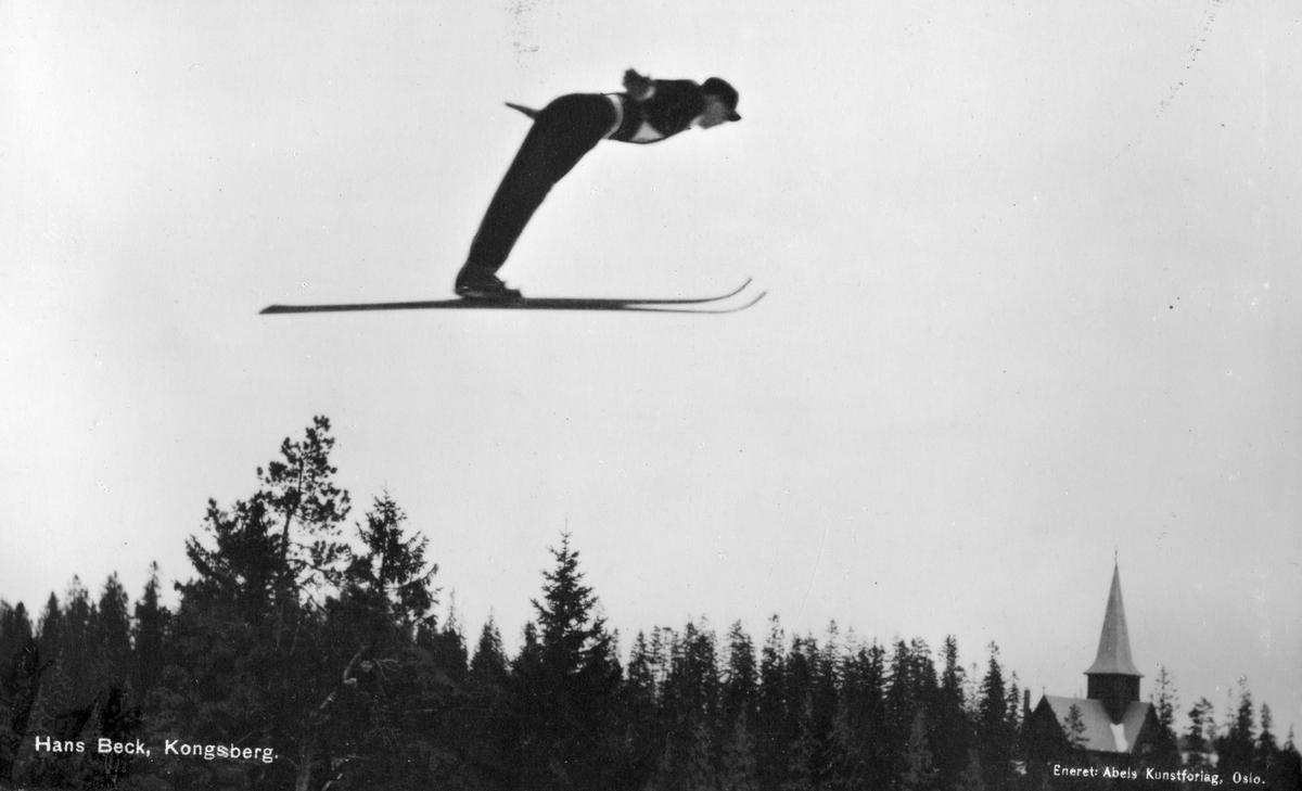 Kongsberg skier Hans Beck at Holmenkollen 1930