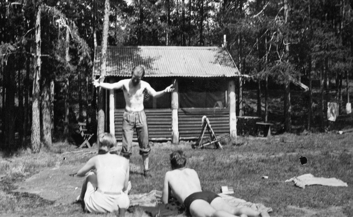 Physical activities at the Ruudhytta cabin.