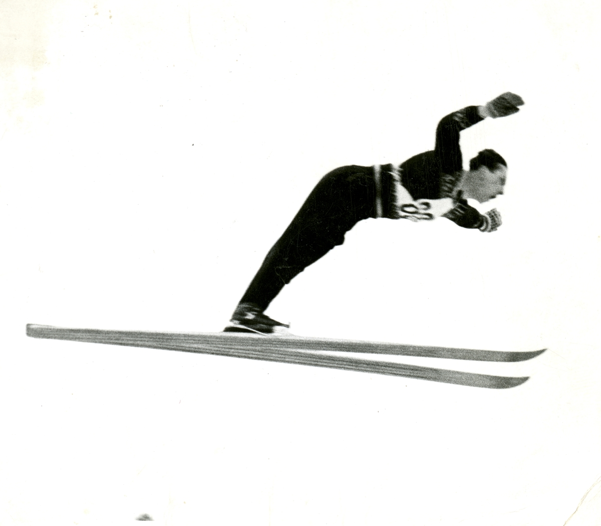 Kongsberg skier Arne Hoel in action