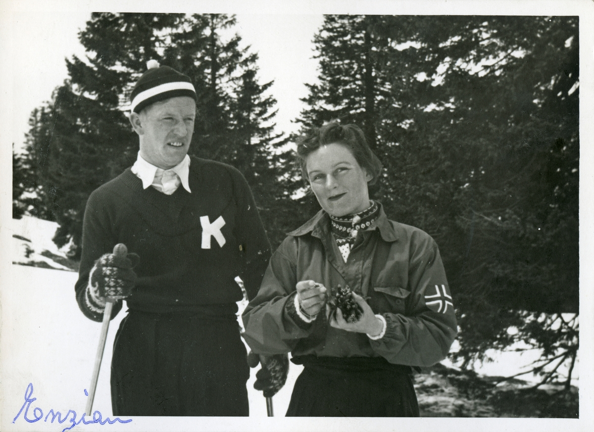 Kongsberg skier Birger Ruud with national team member