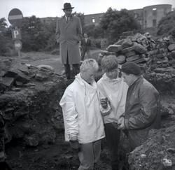 Arkeologiska utgrävningar sydost om Borgs kyrka vid Borgholm