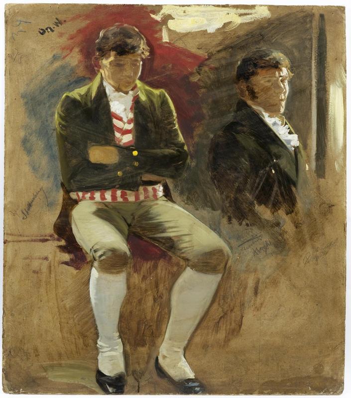 Portrett. To menn. Eidsvoll 1814. Oscar Wergeland