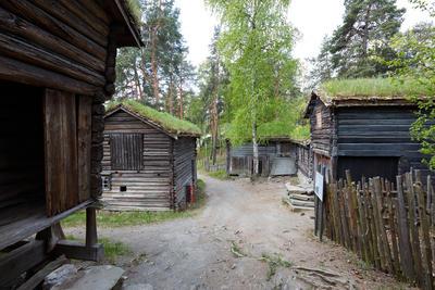Husmannsplassen fra Trøndelag på Norsk Folkemuseum. Foto/Photo