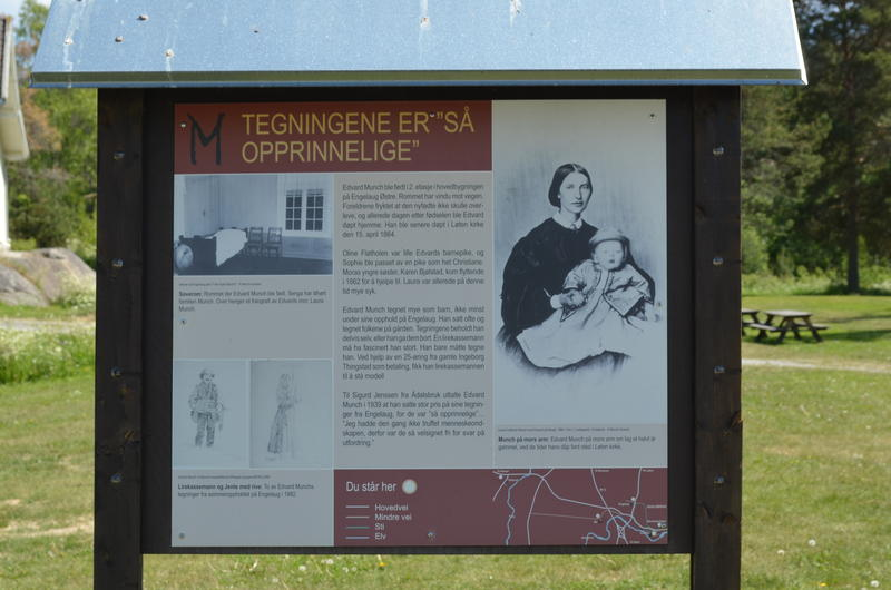 Info board at Klevfos