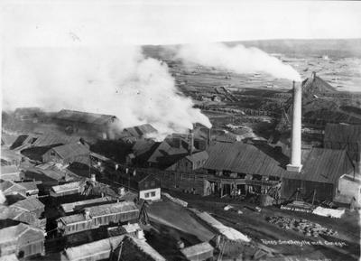 Smeltehytta på Røros 1907. Foto/Photo