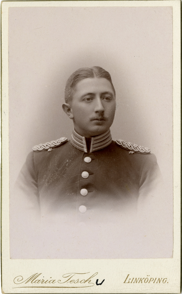 Porträtt av Robert Gillis Heijl, löjtnant vid Andra livgrenadjärregementet I 5.