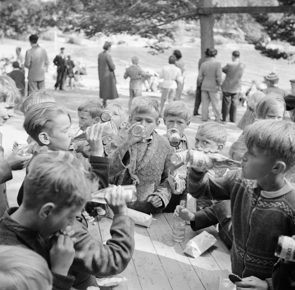 Pojkar som dricker läsk, Arvika, Värmland