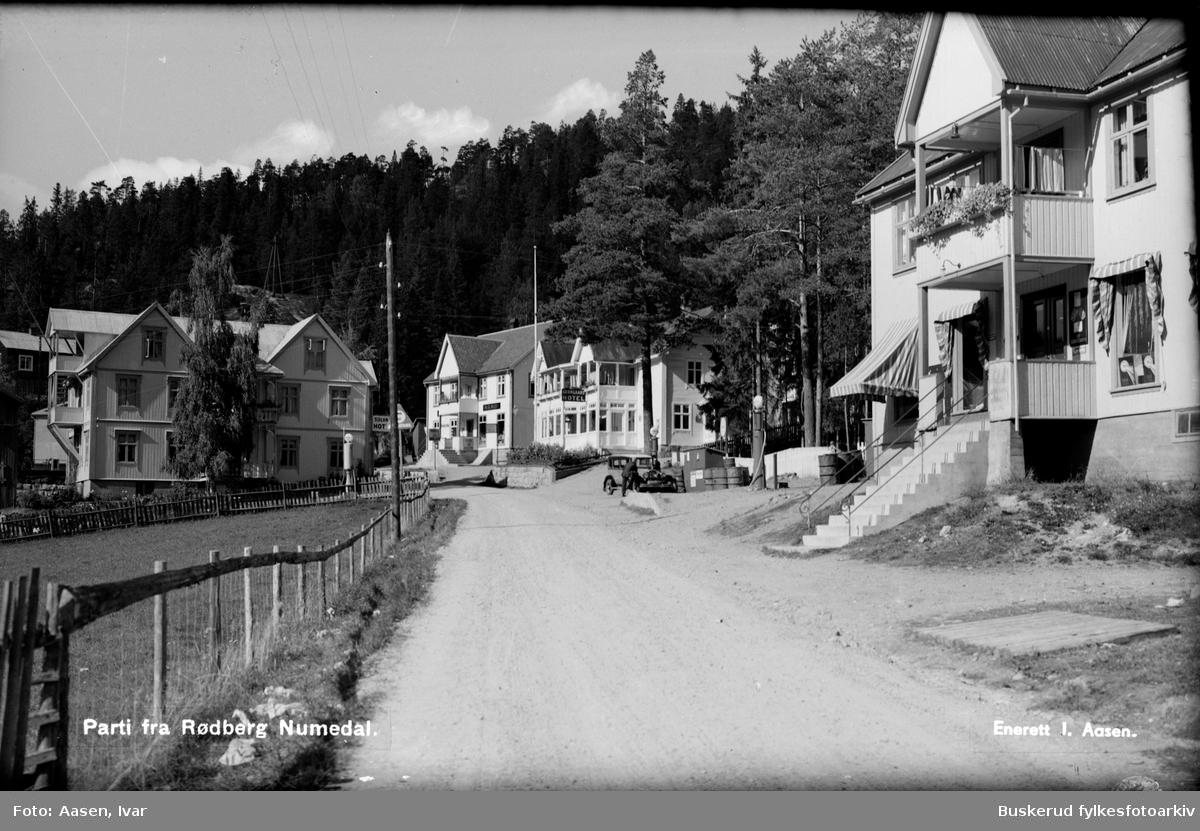 Rødberg sentrum Parti fra Rødberg, Numedal 1924
