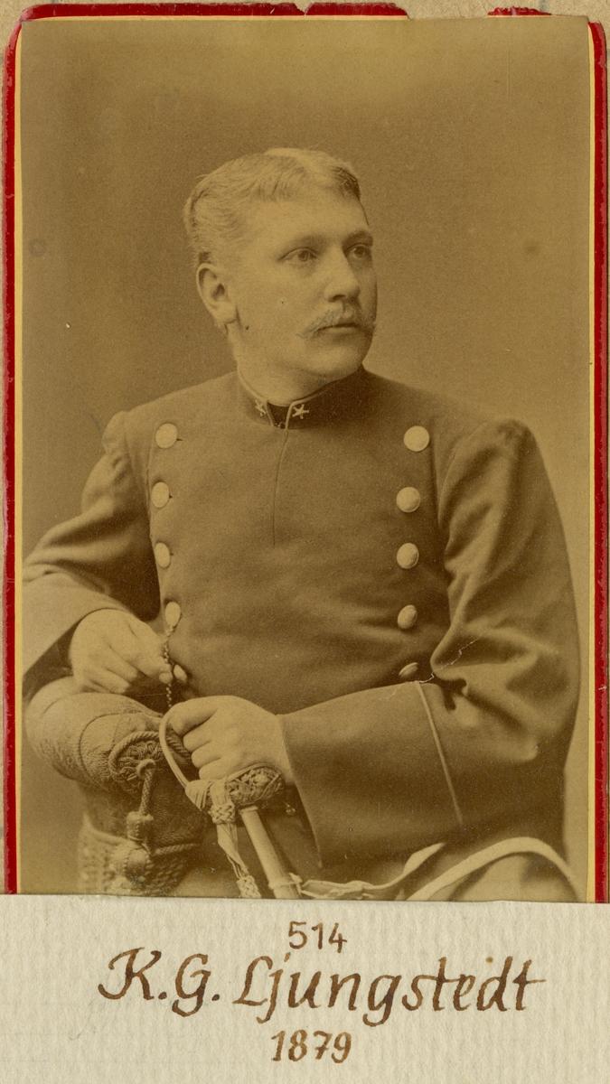Porträtt av Kristian Georg Ljungstedt, underlöjtnant vid Andra livgardet I 2.