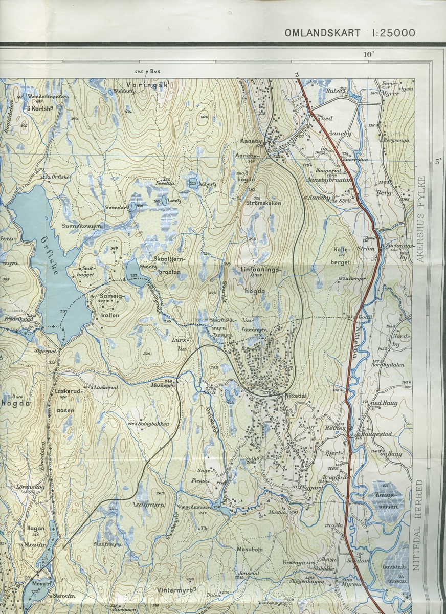 Orienteringsgruppa Nittedal IL Orienteringskart