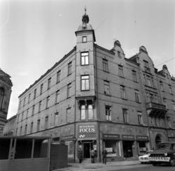 Fasader och fasaddetaljer på husen vid Sjögatan, Bankgatan o