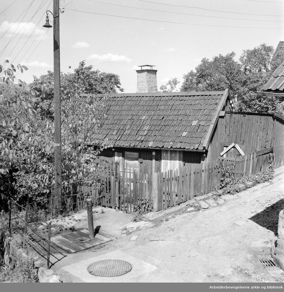Flisberget 2.Gjenreist på Norsk Folkemuseum .Juli 1959