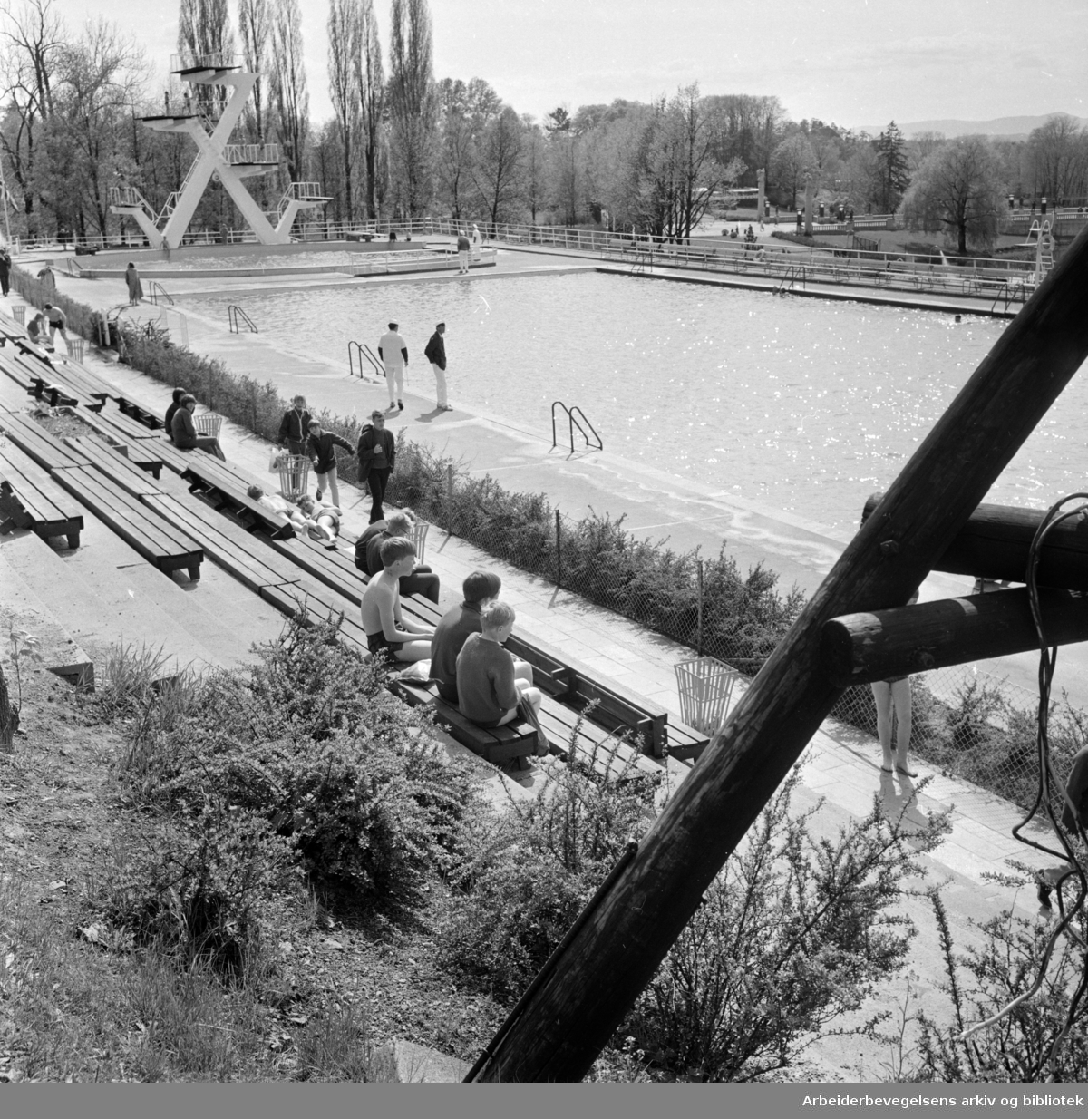 Frognerbadet.Mai 1968