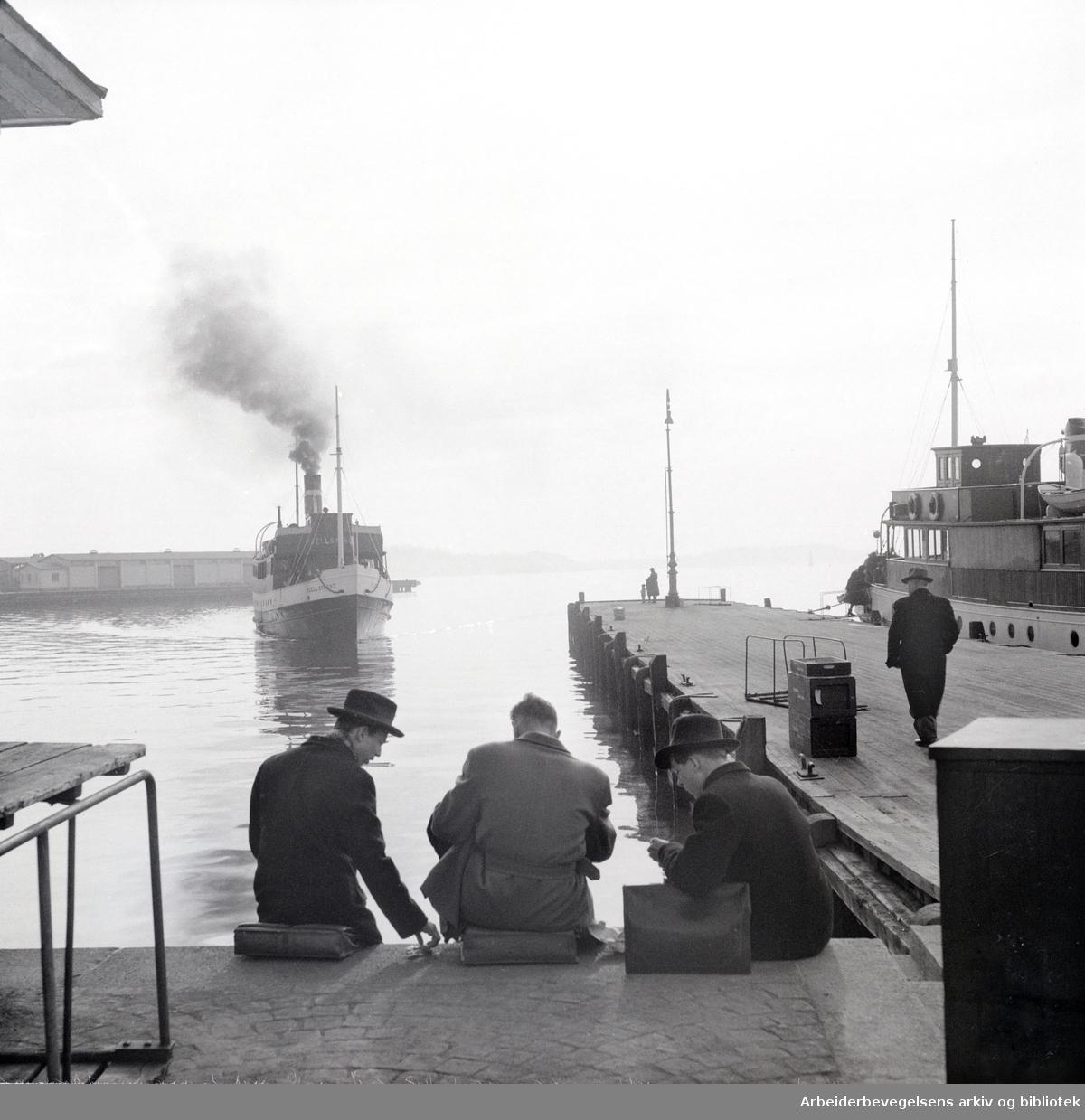 Oslo Havn: Honnørbrygga.D/S Fjellstrand.1951 -1953.
