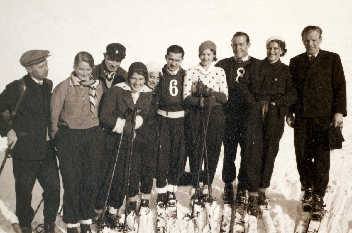 Athlete Sigmund Ruud with friends
