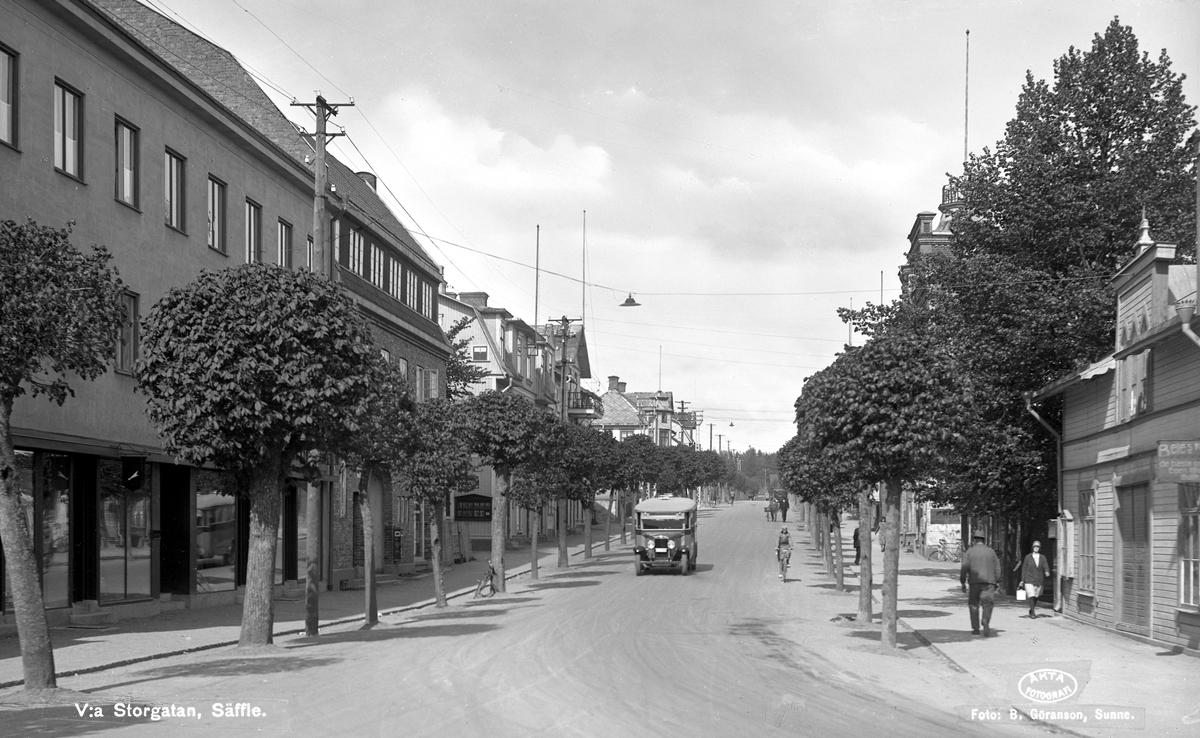 Säffle: Parti från Västra Storgatan.