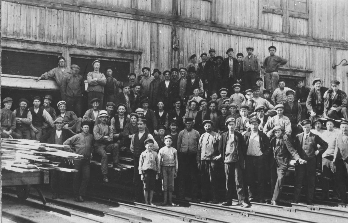 Arbetare vid Hybo-sågen