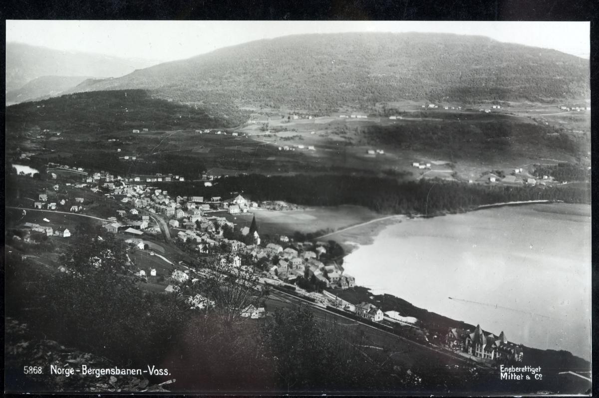 Postkort, Voss beliggende ved Bergensbanen.