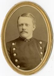 Porträtt av Carl Georg Napoleon Palmqvist, underlöjtnant vid