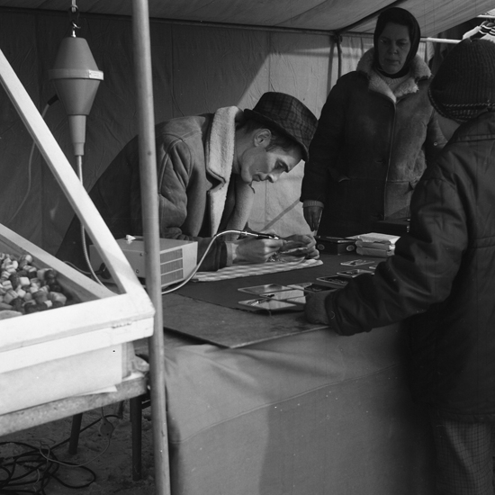 Sigfridsmäss, marknad på Stortorget, Växjö. Ca 1966.