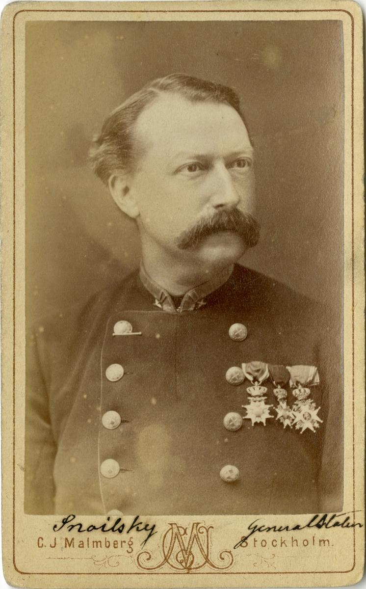 Porträtt av Gustaf Fredrik Snoilsky, överstelöjtnant vid Generalstaben.