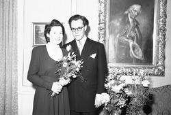 Fogelberg - Norman. Bröllop - Brudpar. Den 7 maj 1943