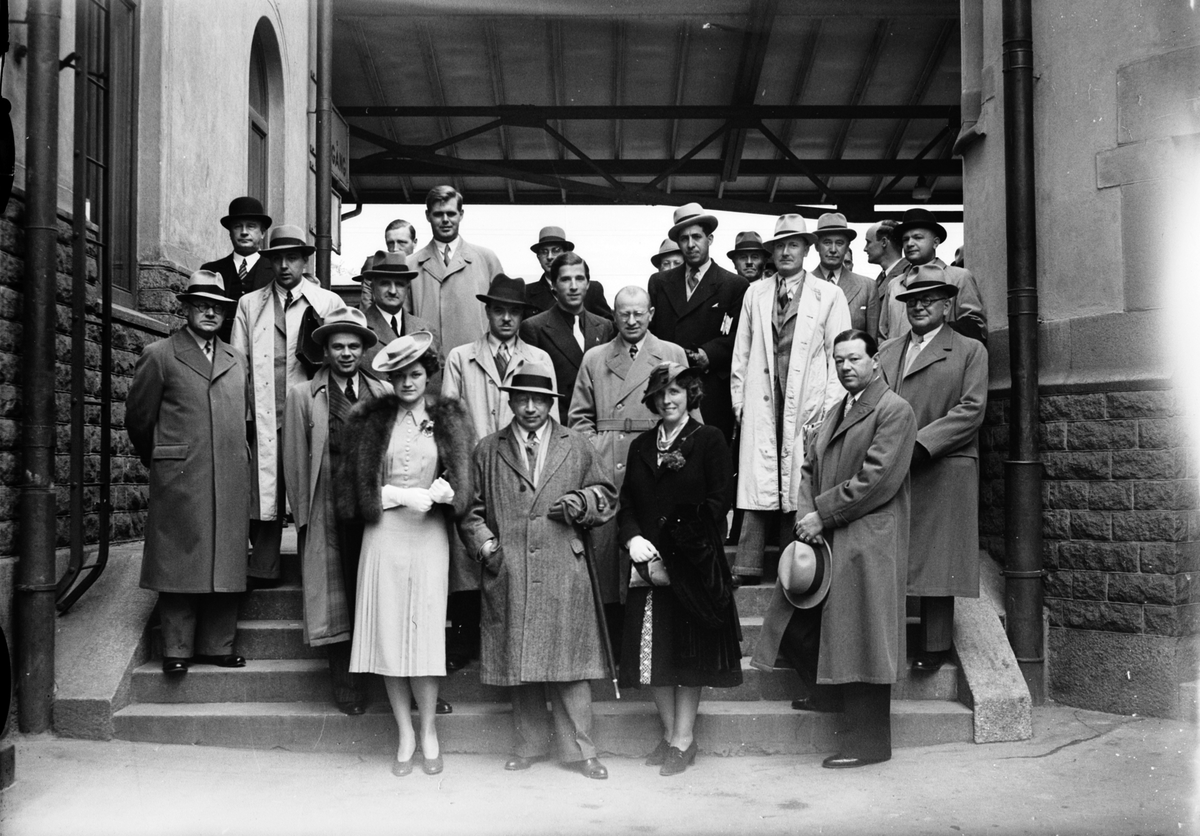 Utländska pressmän på besök. Juni 1939