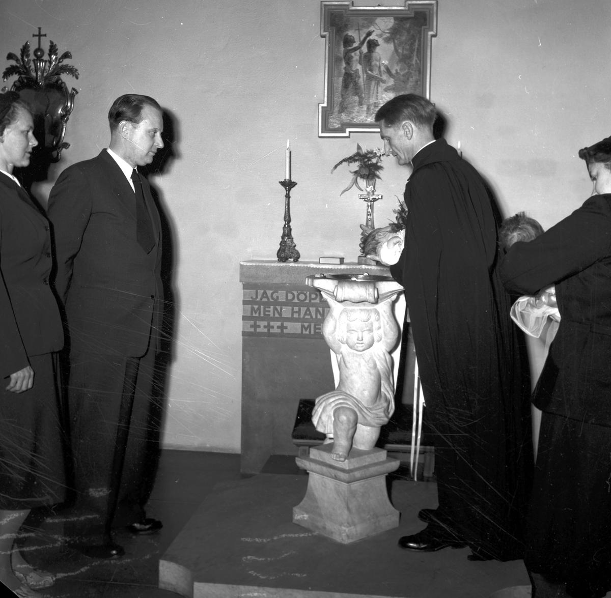 Barndop. Januari 1954. Harry Karlsten.
