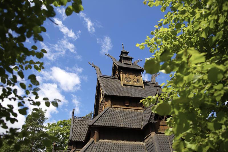 Stavkirke fra Gol på Norsk Folkemuseum (Foto/Photo)
