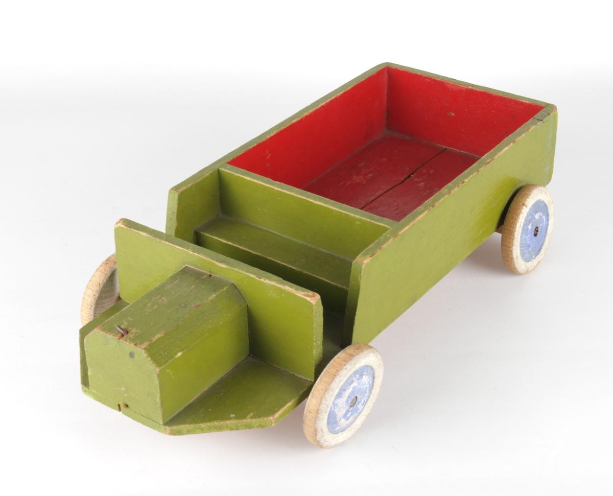 Leikelastebil med plan.