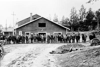 Hester og kjørere ved Folldal Verk, Verket hadde i tiden 33 hester.