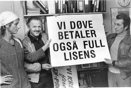 Fra demonstrasjon 23. september 1978 (Foto/Photo)