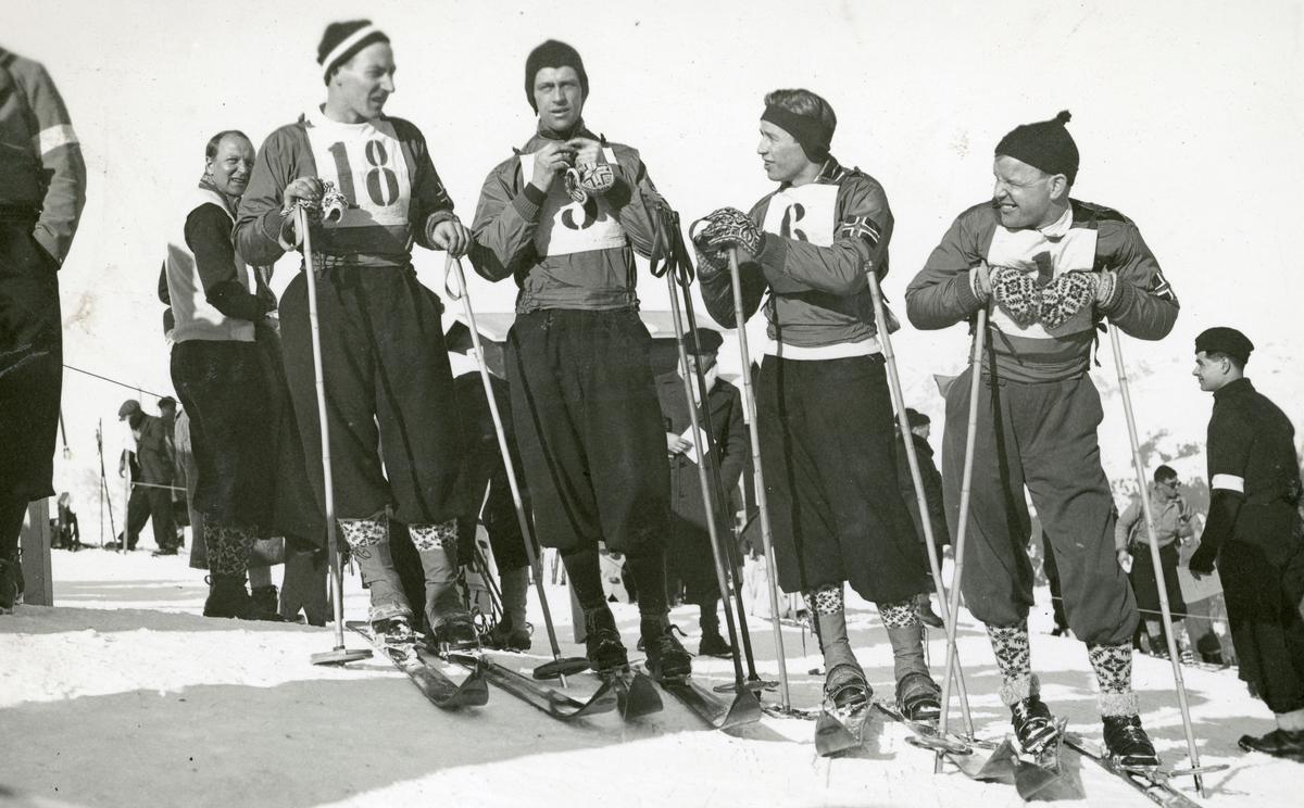 Norwegian athletes during French championship 1935